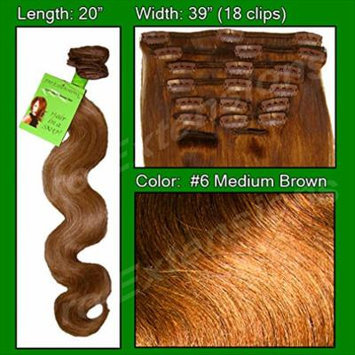 Pro Extensions Hair Extensions #6 Medium Brown - 20 inch Body Wave