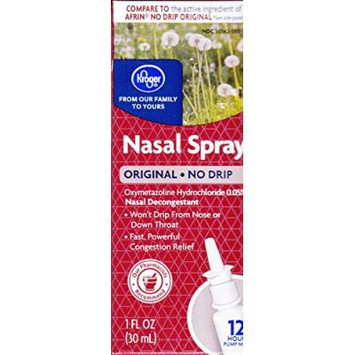 Kroger Nasal Spray No Drip, Oxymetazoline HCl 0.05%, 1 Fl Oz, Compare to active ingredient of Afrin No Drip Original