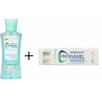 Bundle: Sensodyne Pronamel Mouthwash, 8.4 Ounce PLUS Sensodyne Pronamel Gentle Whitening Toothpaste, Alpine Breeze, 4-Ounce