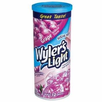 12 Grape Wyler's Cannisters Makes 144 quarts Sugar Free 5 calories per serving