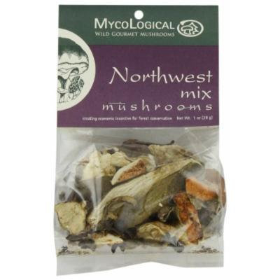 Mycological Dried Northwest Mix Mushrooms, 1-Ounce Packages (Pack of 6)