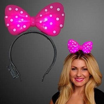 Pink Light Up Bow Headband (Set of 12)