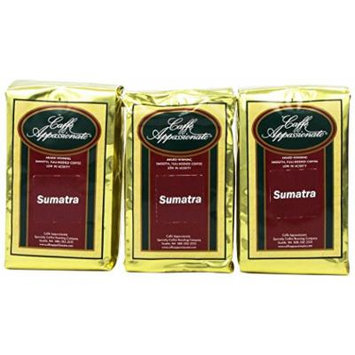 Caffe Appassionato Sumatra Ground Coffee, 12-Ounce Bags (Pack of 3)
