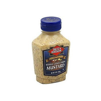 Dietz & Watson, Deli Compliments, Whole Grain Dijon Mustard, 9oz Bottle (Pack of 2)
