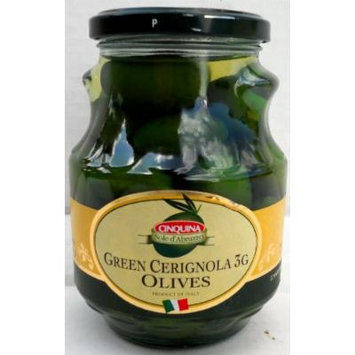 Cinquina (6 pack) Green Cerignola (3g giant size) 580ml jars whole olives from Italy