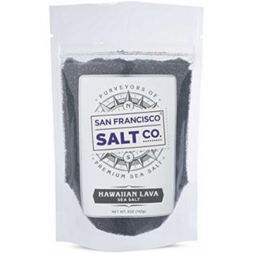 Hawaiian Black Lava Finishing Salt (5oz pouch Fine Grain)