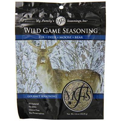 My Family's Seasonings, Inc. Wild Game Seasoning, 3.6-Ounce Pouches (Pack of 6)