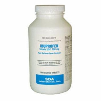 SDA Laboratories Ibuprofen Tablets, Brown, 200mg, 1000 Count