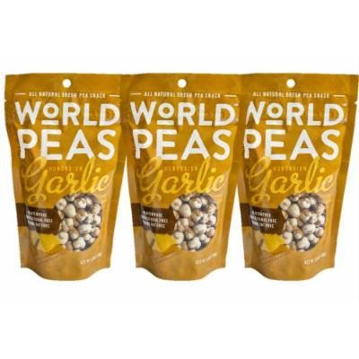 World Peas Green Pea Snack, Hungarian Garlic, 3 Count