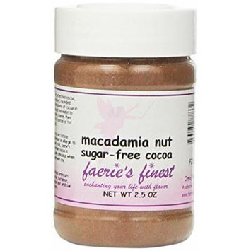 Faeries Finest Sugar-Free Cocoa, Macadamia Nut, 2.50 Ounce