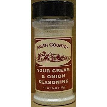 Amish Country Popcorn Sour Cream and Onion Seasoning 5 Oz Shaker