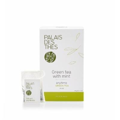 Palais des Thés Green Tea with Mint, 20 Tea Bags (40g/1.4oz)
