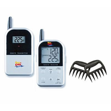Maverick Wireless Barbecue Thermometer - Silver ET732 - Includes Bear Paw Meat Handlers