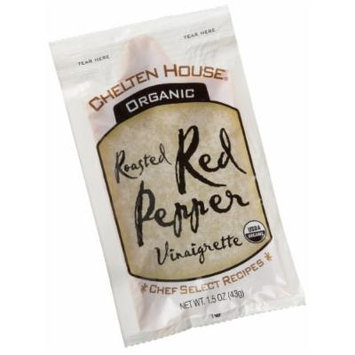 Chelten House Organic Roasted Red Pepper Vinaigrette, 1.5-Ounce Single Serve Pouches (Pack of 60)