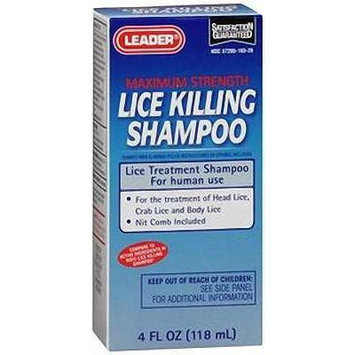 Leader Lice Killing Shampoo 4 OZ (PACK OF 2)