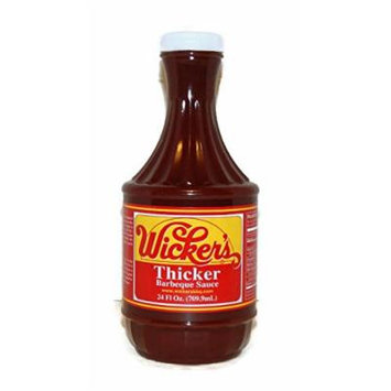 Wickers Sauce Thicker Barbeque Sauce, 24-ounce