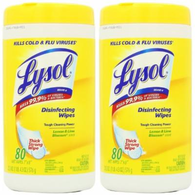 Lysol Disinfecting Wipes Value Pack, Lemon and Lime Blossom, 160 Count