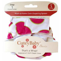 CuteyBaby That's a Wrap Diaper Cover, Big Pink Dot, Small