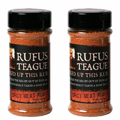 Rufus Teague Gourmet Rubs - No MSG - Gluten Free - OU Kosher - Specialty Spicy Meat Rub (2 Pack) (6.5 oz each)