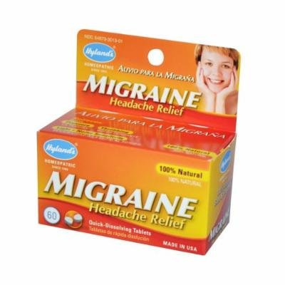 New - Hyland's Migraine Headache Relief - 60 Tablets