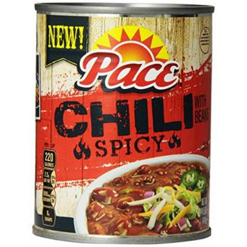 Pace Chili, Spicy with Beans, 14.5 Ounce (Pack of 12)