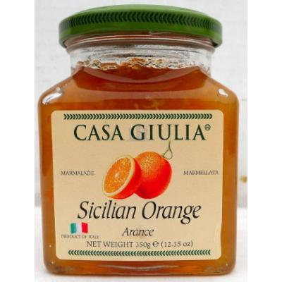 Casa Giulia (12 pack) Sicilian Orange Marmalade 12.35 oz jars from Italy