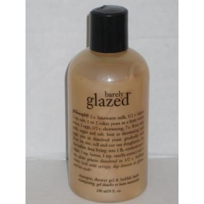 Philosophy Barely Glazed 3 in 1 Shampoo, Shower Gel & Bubble Bath 8oz