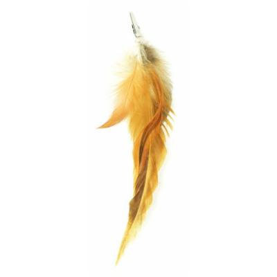Designer Feathers 12743 Feather Hair Extension, Bleached Cocktail