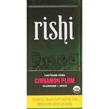 Rishi Tea Organic Loose Leaf Cinnamon Plum Herbal Tea. 3oz - Pack of 3