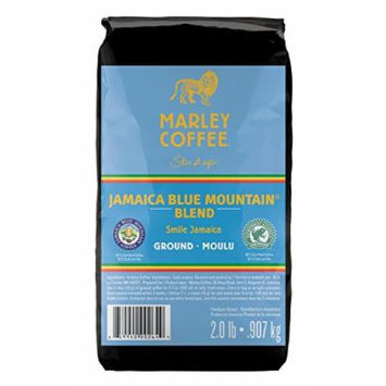 Marley Coffee Smile Jamaica, Jamaica Blue Mountain Blend, Ground Coffee, 2 Pound