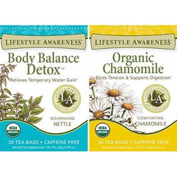Lifestyle Awareness - Body Balance Detox and Organic Chamomile (2 Pack)