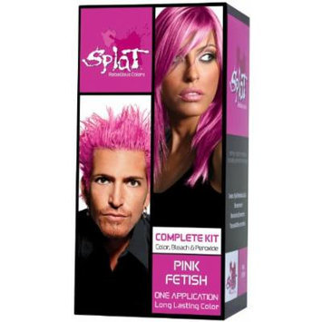 Splat Rebellious Colors Complete Hair Color Kit Pink Fetish (Pack of 2)