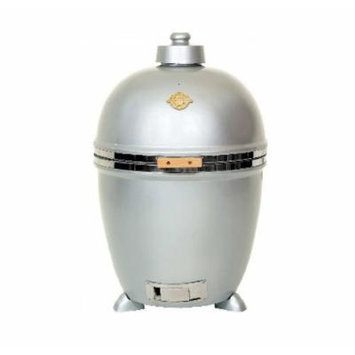Grill Dome Infinity Series Ceramic Kamado Charcoal Smoker Grill, Silver, Extra-Large