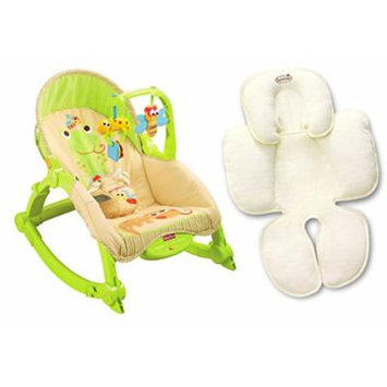 Fisher Price Newborn To Toddler Portable Rocker with Infant Head & Body Insert