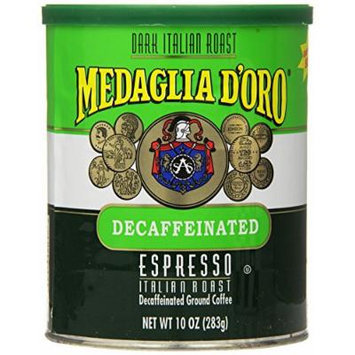 Medaglia D'Oro Italian Roast Decaffeinated Espresso Coffee, 10 Ounce