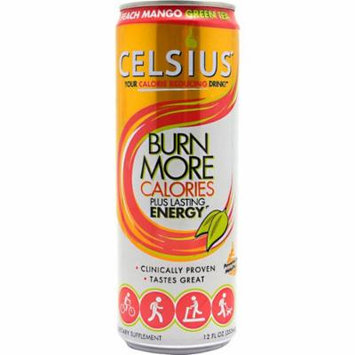 Celsius Peach Mango Green Tea 12 ct - 12oz