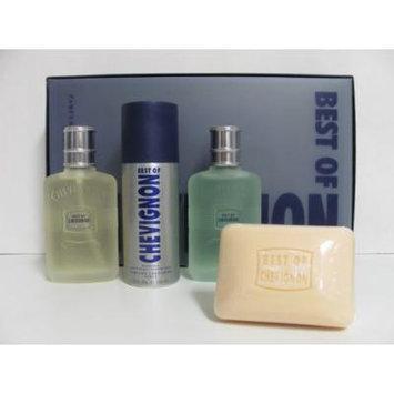 Best of Chevignon by Chevignon for Men 4 Piece set: 3.3 oz Eau de Toilette Spray + 3.3 oz After Shave + 5.2 oz Soap + 5.0 oz Deodorant Spray