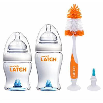 Munchkin Latch BPA-Free 4 Ounce & 8 Ounce Twin Pack with Deluxe Brush