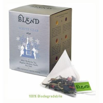 White Czar Tea, 15-Count Individually Wrapped Pyramid Tea Bags
