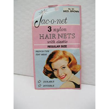 Jac-O-Net Hair Net, Medium Brown - 3 ct