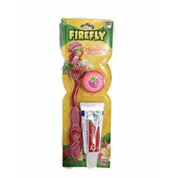 Firefly Strawberry Shortcake Red Soft Bristle Toothbrush Kit