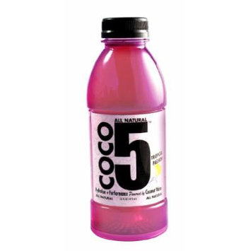 Coco5 All Natural Coconut Water, Tropical Passion, 12 Count