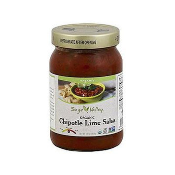 SAGE VALLEY SALSA CHIPOTLE LIME ORG, 16 OZ