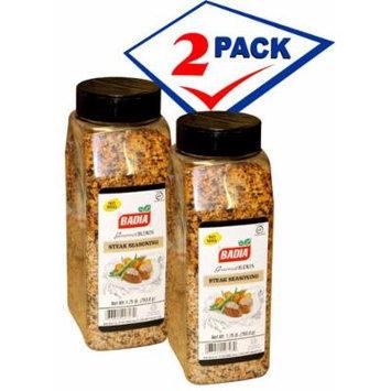 Badia Steak Seasoning 1.75 LB . Large container. Pack of 2