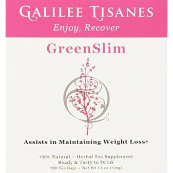 Galilee Tisanes GreenSlim, 100 Tea Bags