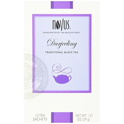 Novus Darjeeling Tea, 12-Count Tea Bags (Pack of 6)