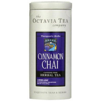 Octavia Tea Cinnamon Chai Caffeine-Free Herbal Tea, Loose Tea, 3.53 Ounce Tin