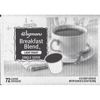 Wegman's Single Serve Coffee Capsules Case of 72 (Breakfast Blend)