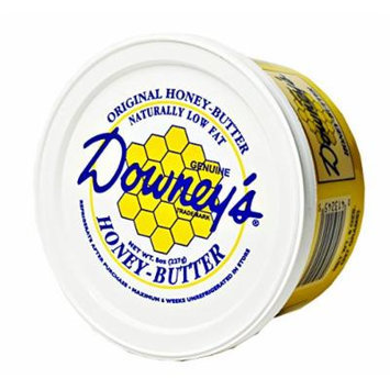 Downey's Original Natural Honey Butter, 8 Oz. Tub (Pack of 4)