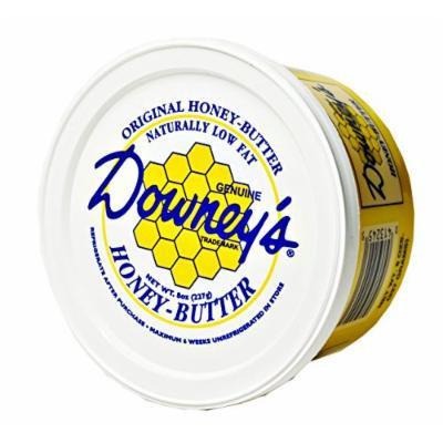 Downey's Original Natural Honey Butter, 8 Oz. Tub (Pack of 4)